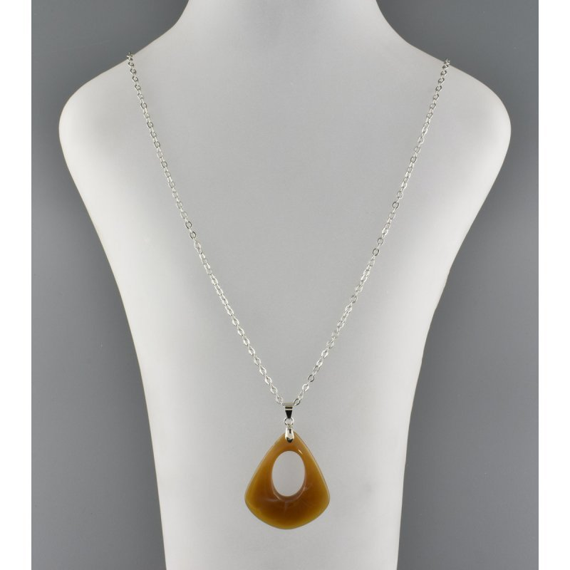 DROP-SHAPE PENDANT BROWN